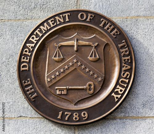 Present Seal Sign Symbol US Treasury Department Washington DC - 81471152