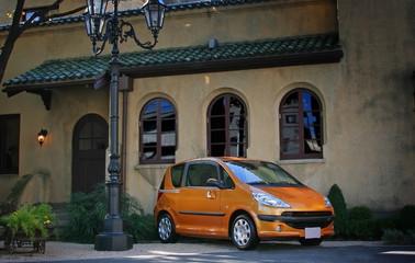 町並みと車 Cityscape and car
