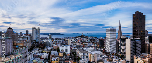 Foto op Aluminium San Francisco Aerial view of San Francisco