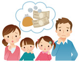 小さな子供のいる家族 お金の心配
