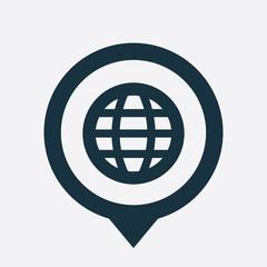 globe icon map pin