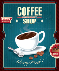 Vintage coffee poster design