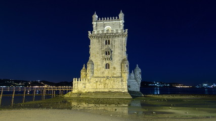 Lisbon, Portugal. Belem Tower (Torre de Belem) is a fortified