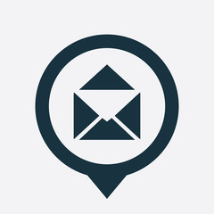 mail icon map pin