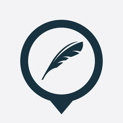 feather icon map pin