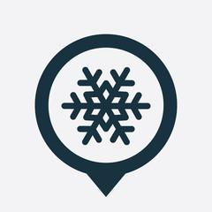 snowflake icon map pin