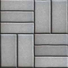 Gray Pave Slabs Rectangles Arranged Perpendicular to Each other