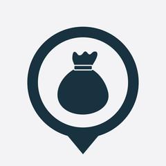 bag icon map pin