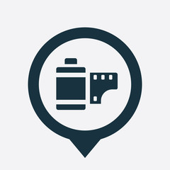 photo film icon map pin