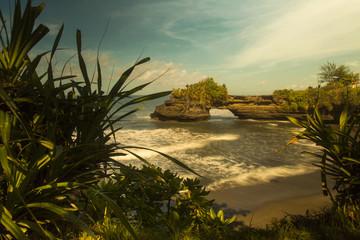 Cliff view from Uluwatu Temple In Bali