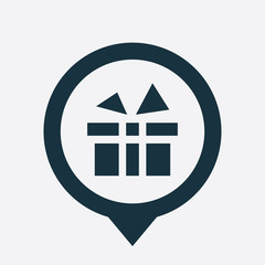 gift icon map pin