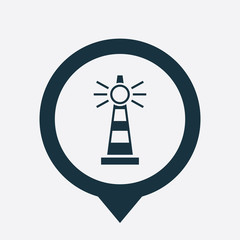 lighthouse icon map pin