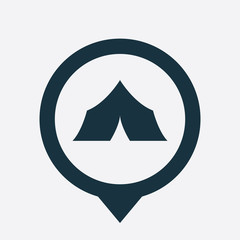 tent icon map pin