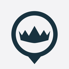 crown icon map pin
