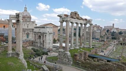 Roman Forum. Panorama. Rome, Italy