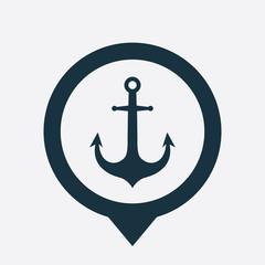 anchor icon map pin