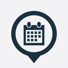 calendar icon map pin
