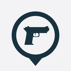 gun icon map pin