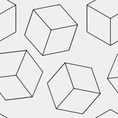 Geometric seamless simple monochrome minimalistic pattern of