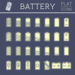 Battery Icons Set - 81475909