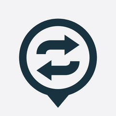 auto play icon map pin