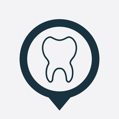 tooth icon map pin