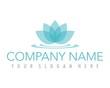 flower lotus blue ornament logo image vector - 81476578