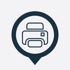 printer icon map pin
