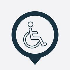 cripple icon map pin