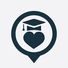 love education icon map pin