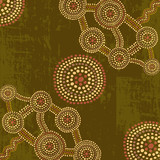 Vector abstract background in australian aboriginal art style