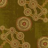 Vector abstract background in australian aboriginal art style