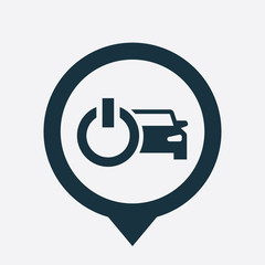 car power icon map pin