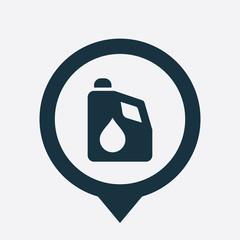 car oil icon map pin