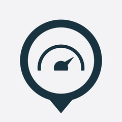 speedometer icon map pin