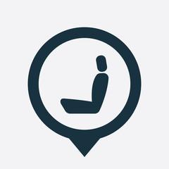 car seat icon map pin