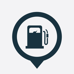 petrol station icon map pin