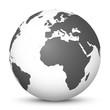Weltkugel, Erdkugle, Globus, Kugel, Erdball, Sphere, World, 3D - 81477759