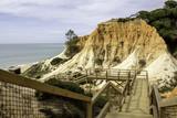 Algarve scenario footpatch cliff acess, at Falesia beach. poster