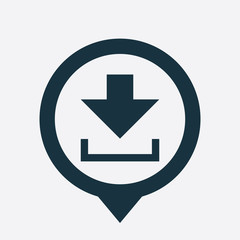 Download button icon map pin