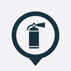 fire extinguisher icon map pin