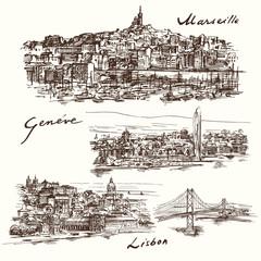 Marseilles, Geneva, Lisbon