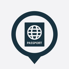 passport icon map pin