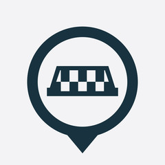 taxi icon map pin