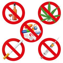 No drugs, smoking and alcohol