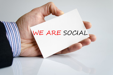 We Are Social Concept