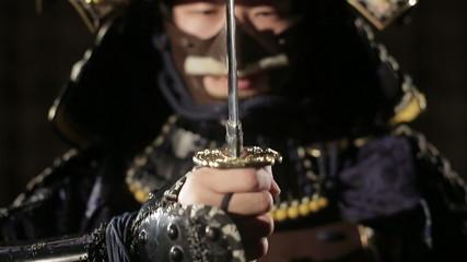 samurai ready to fight