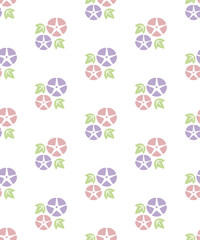 Seamless pattern of Colorful Morning glory