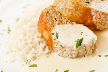 rice with meat loaf