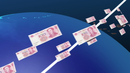 Yuan of the world congregate to China(china money)